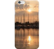 Of Yachts and Cormorants - A Golden Marina Morning iPhone Case/Skin