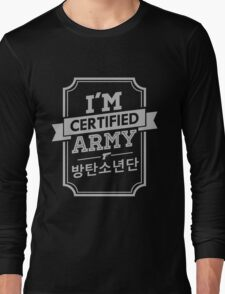 Certified BTS ARMY Long Sleeve T-Shirt