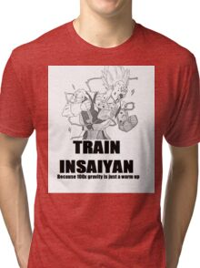 train insaiyan Tri-blend T-Shirt