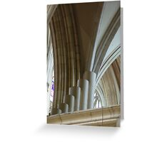 Arches and Pipes - York Minster, Yorkshire, England Greeting Card