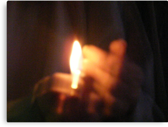 Candle Glow Bright, BurnBright on A Dark night by zoolou