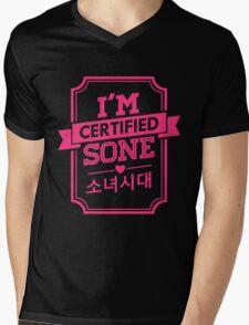 Certified SNSD SONE Mens V-Neck T-Shirt