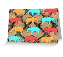 HERD OF ELEPHANTS Greeting Card