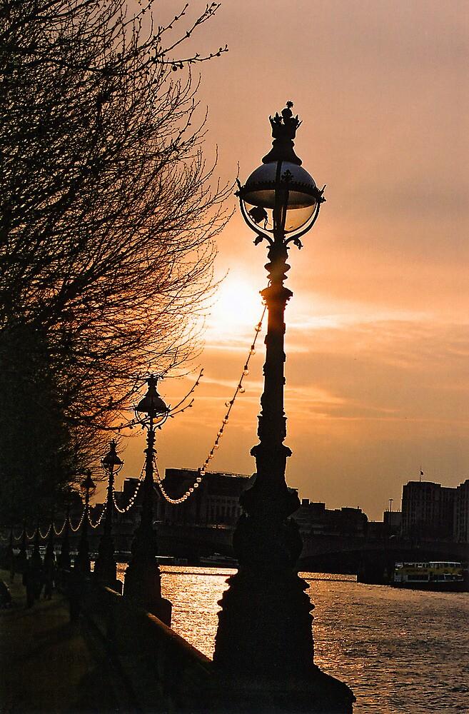 South Bank Along The River Thames. London, England by Ralph de Zilva