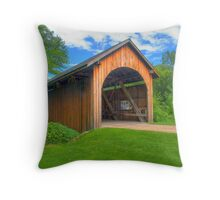 Stonefield Covered Bridge Throw Pillow