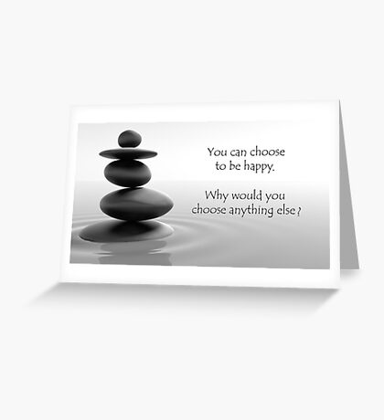 Peaceful Happy Buddha quote Greeting Card