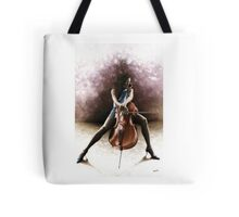Tranquil Cellist Tote Bag
