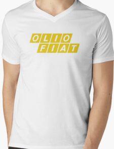 Olio Fiat - Yellow Mens V-Neck T-Shirt