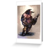 Shadowrun Troll Greeting Card
