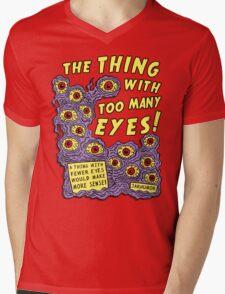 Too Many Eyes Mens V-Neck T-Shirt