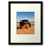 Blasting a  Dune Framed Print