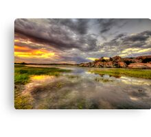 Sundown at Willow Lake Canvas Print