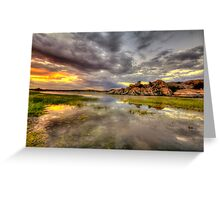 Sundown at Willow Lake Greeting Card
