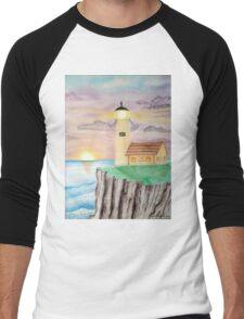 Lighthouse Pastel Men's Baseball ¾ T-Shirt