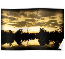 Twilight on maribyrnong river Poster