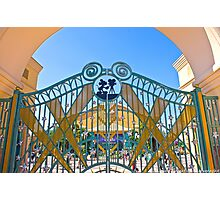 Walt Disney Studio Gates (Mickey Mouse) Photographic Print