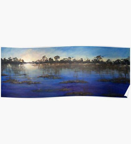 Last light Okavango Swamp Poster