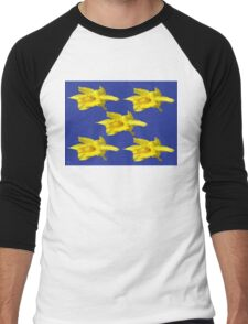 DAFFODILS ON BLUE Men's Baseball ¾ T-Shirt