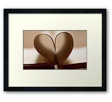 love is an open book Framed Print