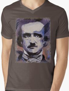 Edgar Allan Poe Mens V-Neck T-Shirt