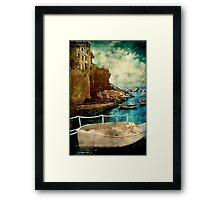 Cinque Terre Boat Framed Print