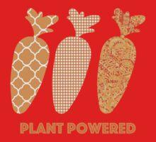 'Plant Powered' Carrot Design Vegan T-shirt Kids Tee