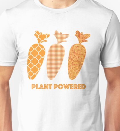 'Plant Powered' Carrot Design Vegan T-shirt Unisex T-Shirt