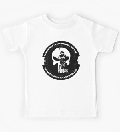 AMERICAN SNIPER CRAFT C.R.A.F.T. VIOLENCE SOLVE PROBLEMS Kids Tee