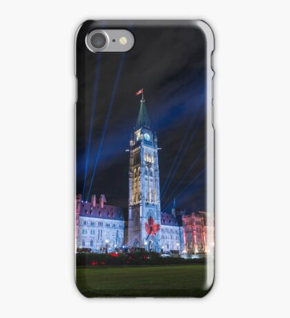 Canada's Parliament building at night - Ottawa, Canada iPhone Case/Skin