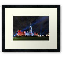 Canada's Parliament building at night - Ottawa, Canada Framed Print