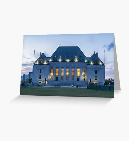 Supreme Court of Canada building - Ottawa, Canada Greeting Card