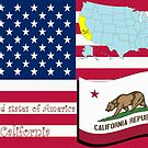 California state illustration by Laschon Robert Paul