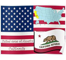 California state illustration Poster