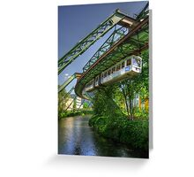 Monorail in Wuppertal in mild HDR Greeting Card