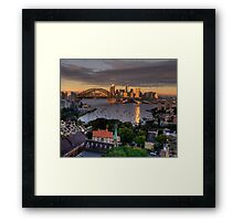 Kissed  # 2 - Sydney Harbour, Sydney Australia (30 Exposure HDR Panorama)- The HDR Experience Framed Print