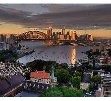 Kissed  # 2 - Sydney Harbour, Sydney Australia (30 Exposure HDR Panorama)- The HDR Experience Photographic Print