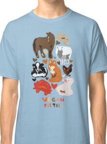 Vegan for the animals Classic T-Shirt