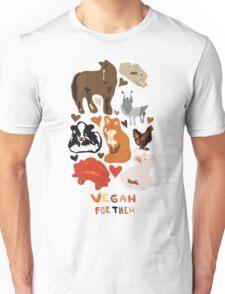 Vegan for the animals Unisex T-Shirt