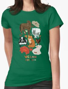 Vegan for the animals Womens Fitted T-Shirt