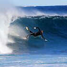 Taking a dive, the North end of North Narrabeen beach by Doug Cliff