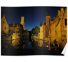 Bruge by night Poster