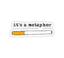 """it's a metaphor"" the fault in our stars design by Penelope Bianchi"