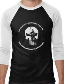 AMERICAN SNIPER CRAFT C.R.A.F.T. VIOLENCE SOLVE PROBLEMS DARK Men's Baseball ¾ T-Shirt