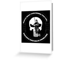 AMERICAN SNIPER CRAFT C.R.A.F.T. VIOLENCE SOLVE PROBLEMS DARK Greeting Card