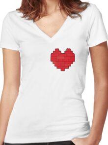 AFOL's Heart Women's Fitted V-Neck T-Shirt