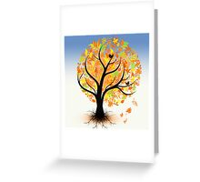 Colorful autumn tree Greeting Card