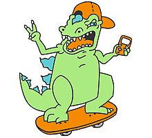 Cool Reptar Photographic Print
