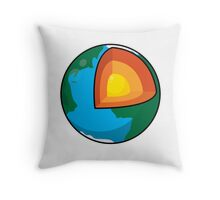 Center of the Earth Throw Pillow