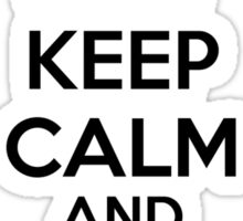Keep calm and surf on Sticker