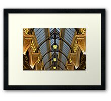 Melbourne Block Arcade Arches Framed Print